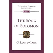 Song of Solomon (Tyndale Old Testament Commenta)