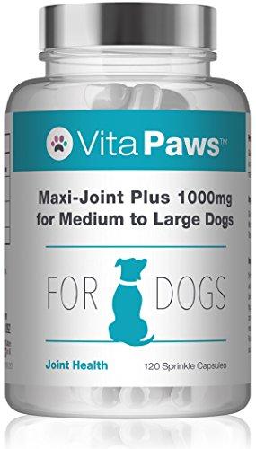 Maxi-Joint Plus 1000mg per cani di taglia media e grande - 120 Capsule - Per la Salute delle Articolazioni - Vitapaws di SimplySupplements