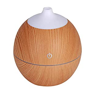 Efanhouy Aironic Air Purifier Humidifier Mini Diffuser Air Aroma Essential Oil Diffuser LED Ultrasonic Aroma Wood Grain