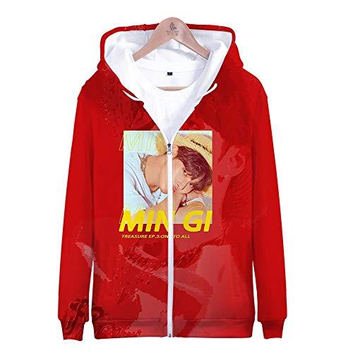 ex 3D Gedruckte Song Und Tanz Kombination Thema Jugend Kapuzen Sweatshirt Hoodie Lässig Paar Reißverschluss Lose Spitze, Ateez, M ()