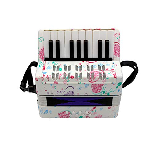 JHKJ Akkordeon, Mini Piano Akkordeon Spielzeug, 17-Taste 8 Bass Educational Musikinstrument Spielzeug für Kinder Kinder Amateur Anfänger,A