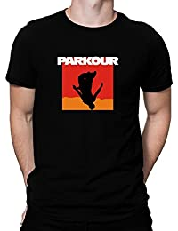 Teeburon Parkour Silhouette Camiseta