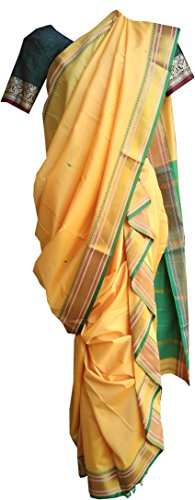 Jay Vithai Tradition Silk Saree (Saree404439404_Yellow)