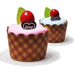 bobo Fiberglas Kuchen Form Geburtstag Geschenk Handtuch Einrichtung (Farbe Zufällig)