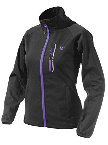 Ultrasport Mia - Chaqueta Softshell deportiva / para correr / de senderismo para mujer, color negro / púrpura, talla S
