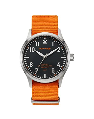 Pop-Pilot Unisex-Armbanduhr MAD Analog Quarz Nylon P4260362630086