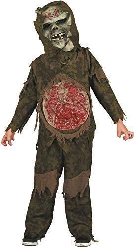 Fancy Me Kinder Jungen Mädchen Verfaulendes Zombie Leichnam Halloween Horror Unheimlich Gruselig Kostüm Kleid Outfit - Multi, 10-12 Years (Kinder Für Zombie-kostüme Unheimlich)