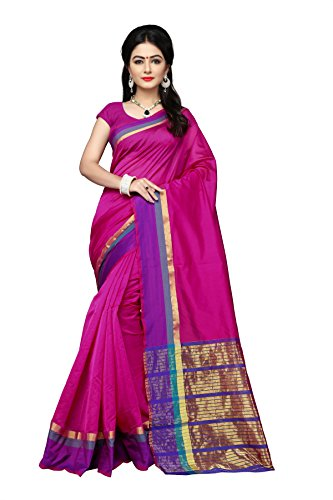 Indian Fashionista Women's Tassar Silk Saree With Blouse Piece (Nrpt1128B_Pink)