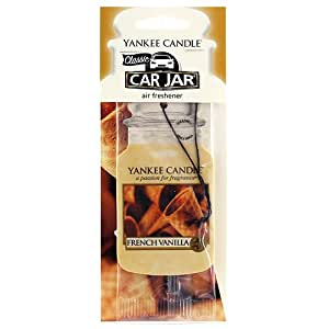 Yankee Candle 1020343 Jarres Désodorisantes pour Voiture French Vanilla Parfum d'Exterieur Multicolore