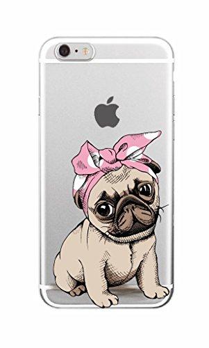 iPhone 6trasparente Cover Morbido Silicone Custodia TPU Chinese Shar-Pei Dog modello Bumper Case Leggero Antigraffio stossdaempfende caso per il iphone 6/6S dog20