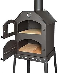profi pizzaofen f r den garten schamott stein thermometer drosselklappe pizza backofen. Black Bedroom Furniture Sets. Home Design Ideas