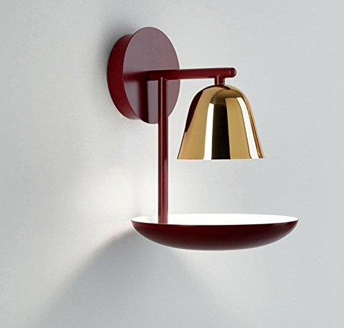 HHORD Nordic LED kreative persönlichkeit schlafzimmer wandleuchte nacht weinschrank restaurant gang balkon eisen wein glas wandleuchte (Wein-flaschen-licht-buchse)