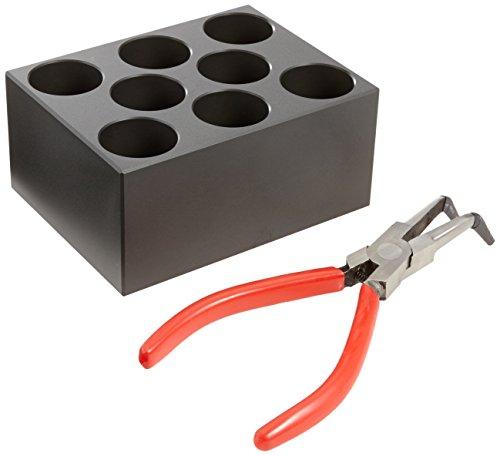 Witeg Heizblock BLC008 8 Löcher 50ml konische Reaktionsgefäße, Ø28,9x42mm leicht konischer Boden, für Blockthermostat HB-48/-96/R-48