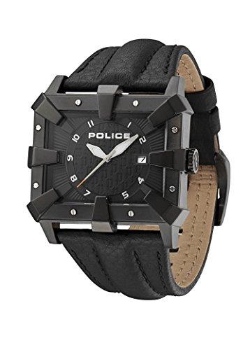 Police Detroit Herren-Armbanduhr Analog Quarz Leder - PL.93404AEU/02A