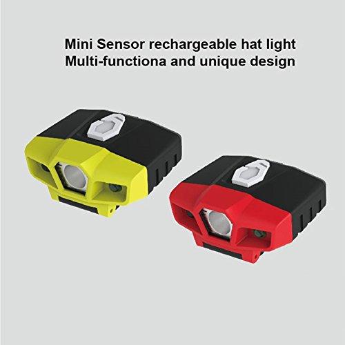 Dingcaiyi Scheinwerfer Cap Clip Light Intelligente Wahrnehmung Wiederaufladbare Einstellbar Freisprecheinrichtung Für Die Jagd Camping Angeln
