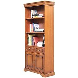 Librería de madera con estantes regulables, librería alta, mueble biblioteca de salon estilo clasico