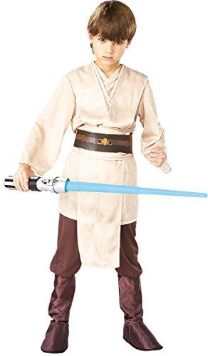 Rubie's Star Wars Kinder Kostüm Jedi Ritter Deluxe Karneval 7 bis 9 - Star Wars Jedi Deluxe Kind Kostüm