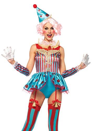 l Zirkus Clown Damen Kostüm kurz L (Direktorin Kostüm)