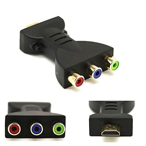 HDMI zu RCA Adapter, Bebester HDMI zu Component Konverter HDMI Splitter 3 Port Video Audio Adapter AV RGB Component Kabel Konverter Stecker für 1080p HDTV DVD Rgb-component-audio