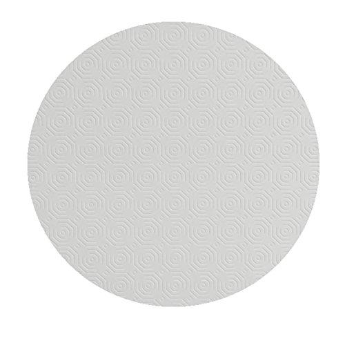 Tischpolster RUND OVAL Größe & Farbe wählbar Weiss 130 cm Rund Tischschoner Tischschutz Molton Auflage Schoner Unterlage (Terrasse Runde Tischdecke Tisch)
