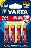 VARTA 1 Blister je 4 Batterien,Max Tech (AAA/LR3)