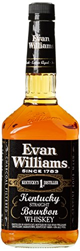 Liter Quellwasser (Evan Williams Sour Mash Extra Aged Kentucky Straight Bourbon Whiskey (1 x 1 l))