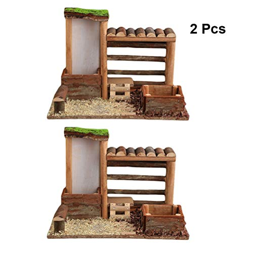 ZHKY 2 piezas Caja de Ventana de Jardin Kit de casa de Madera miniatura jardín Caja de Ventana maceta suculenta maceta de Flores caja (Größe : B)