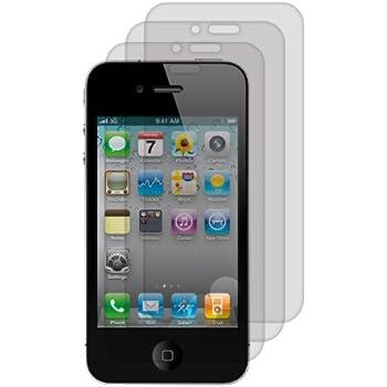 3x kwmobile Folie matt für Apple iPhone 4 / 4S Displayschutzfolie - Schutzfolie Anti-Fingerabdruck Displayschutz Displayfolie entspiegelt