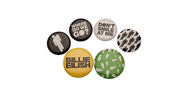 Billie Eilish Lot de badges mixtes Stickman