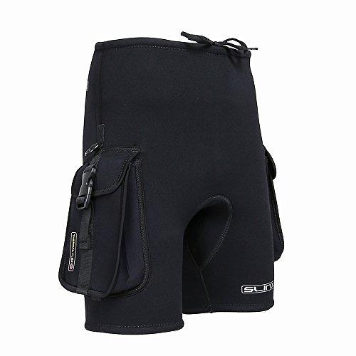 Lixada Wetsuits Shorts,Neoprenhose, Neoprenhose mit Taschen (3 mm)
