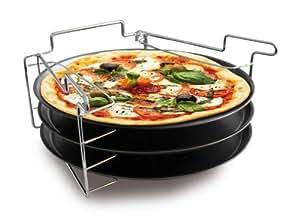 Baumalu 3776 Lot 3 Plaques à Pizza avec Support