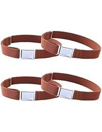 Kajeer 4 Stück Gürtel für Jungen Mädchen Verstellbar - Großer Elastischer Stretchgürtel mit einfacher Magnetschnalle