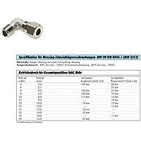 Winkel-Verschraubung 3Stck 6mm 12,00 Euro Schneidringverschraubung