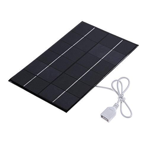 Demiawaking Solar-Panel zum Laden von USB-Power-Banks, Akkus und Handys