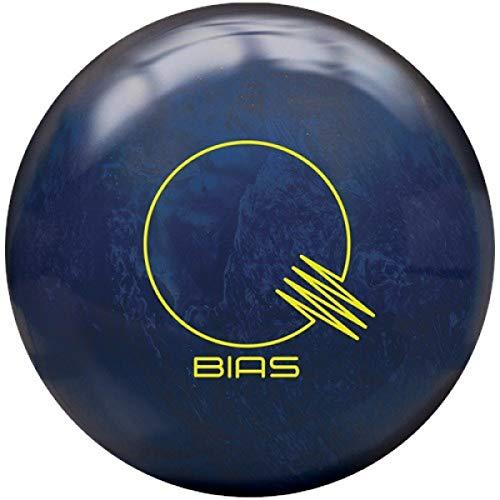 Brunswick Quantum Bias Pearl, Blaue grüne Pearl Oberfläche, Reactive Bowlingkugel für Einsteiger und Turnierspieler - inklusive 100ml EMAX Ball-Reiniger Größe 14 LBS (Brunswick Strike)