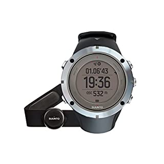 Suunto Unisex Adult Ambit3 Peak Heart Rate Watch, Silver/Black, One Size