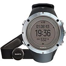 Suunto - AMBIT3 PEAK Sapphire HR - Reloj GPS multideporte para exterior, Unisex, 30 h batería, Medidor de frecuencia cardíaca + correa de pecho azul - Talla M - Sumergible hasta 100 m, Cristal de zafiro