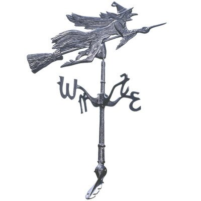 Design Toscano Windblown Wicked Witch Metal Weathervane - Roof Mount