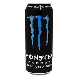 Canette Monster Energy Absolutely Zero, Boisson Énergisante Sans Sucre, Energy Drink, avec Taurine et Caféine, 50 cl