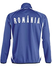Rumänien Sport Pullover BLAU SWEATER Trikot look