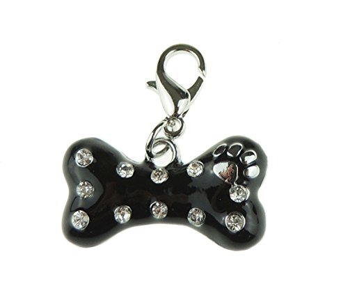 Süßer kleiner Hund mit Knochen Halsband 3cm breit Charme