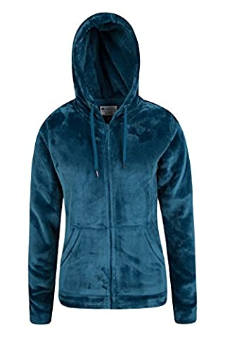 Mountain Warehouse Sweat Femme Capuche Veste Polaire Poches Cordon de serrage Ajustable Snaggle Sarcelle 44