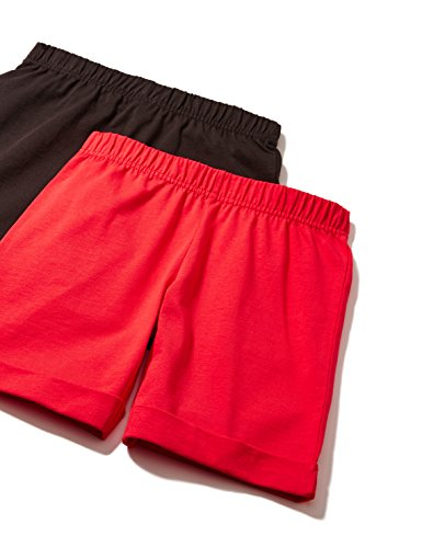 RED-WAGON-Short-Fille-Lot-de-2-Multicolore-Red-Charcoal-10-ans