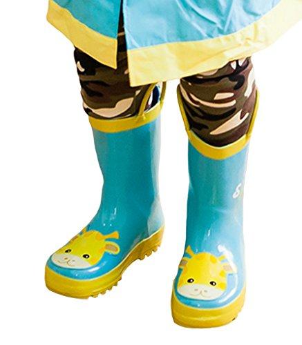 Smile YKK Bottes de Pluie Imperméable Antiderapant Pour Enfant Bleu Clair