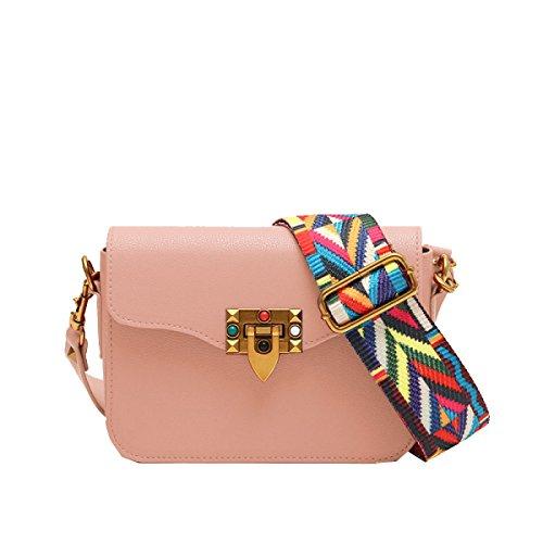 Yy.f Mini Bag Sacchetti Borse Marea Ampia Tracolla Messenger Bag Piccola Piazza Il Sacchetto Arcobaleno Femminile Borse Della Spalla Borse Multicolori Pink