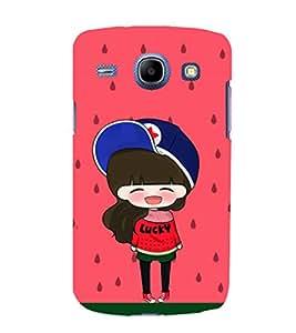 printtech Lucky Girl Back Case Cover for Samsung Galaxy J5 / Samsung Galaxy J5 J500F