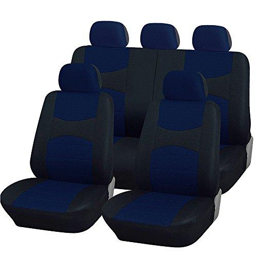 Coprisedili Auto universali con Copri Volante e Copri Cintura in Tinta con i sedili - A19 - per Auto con sedili Standard Medio Picco