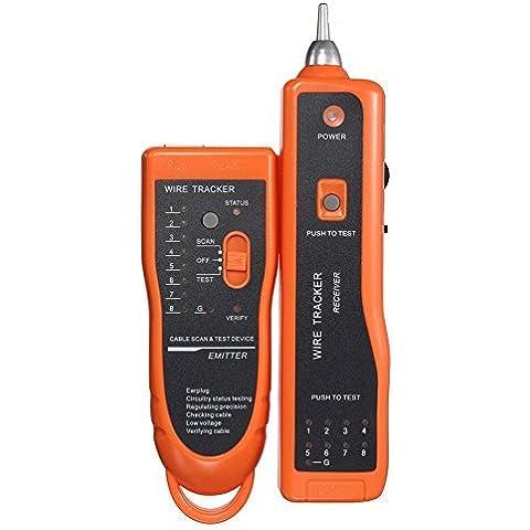 MP power ® Red Ethernet LAN Teléfono tóner perseguidor del BNC RJ45 RJ11 alambre trazador de Cable seguimiento de sistema y