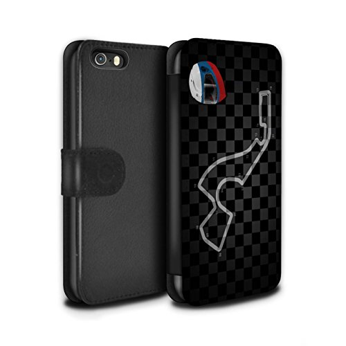 Stuff4 Coque/Etui/Housse Cuir PU Case/Cover pour Apple iPhone SE / Malaisie/KualaLumpur Design / 2014 F1 Piste Collection Russie/Sochi