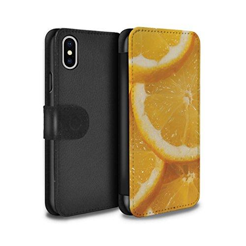 Stuff4 Coque/Etui/Housse Cuir PU Case/Cover pour Apple iPhone X/10 / Pack 18pcs Design / Fruits Juteux Collection Citron